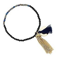 Butterfly by Matthew Williamson - Designer mini bead and disc tassel drop bracelet