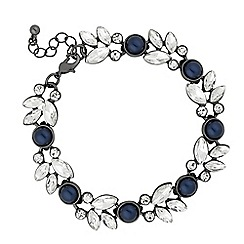 Butterfly by Matthew Williamson - Designer blue pearl crystal cluster link bracelet