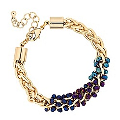 Butterfly by Matthew Williamson - Designer mixed bead chain twist bracelet