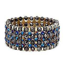 Butterfly by Matthew Williamson - Designer mixed bead bar stretch bracelet