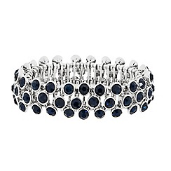 Butterfly by Matthew Williamson - Designer blue stone triple row stretch bracelet