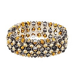 Butterfly by Matthew Williamson - Designer gold and grey beaded stretch bracelet
