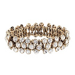 Butterfly by Matthew Williamson - Designer crystal stone triple row stretch bracelet