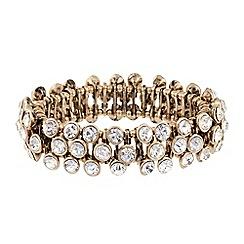 Butterfly by Matthew Williamson - Designer crystal stone triple row stretch bracelet