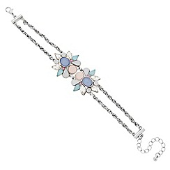 Butterfly by Matthew Williamson - Designer pastel cluster two stone bracelet