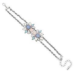 Butterfly by Matthew Williamson - Designer pastel cluster two stone bracelet