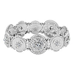 Butterfly by Matthew Williamson - Designer filigree silver coin stretch bracelet