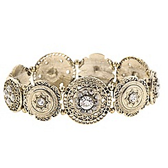 Butterfly by Matthew Williamson - Designer filigree gold coin stretch bracelet