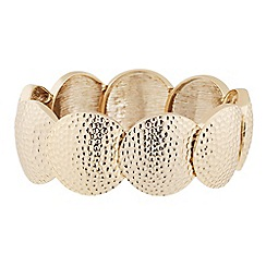 Butterfly by Matthew Williamson - Designer textured gold coin stretch bracelet