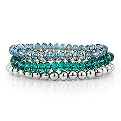 Butterfly by Matthew Williamson - Tonal blue stretch bracelet pack