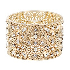 Butterfly by Matthew Williamson - Gold crystal filigree stretch bracelet