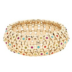 Butterfly by Matthew Williamson - Designer multicoloured stone embellished stretch bracelet
