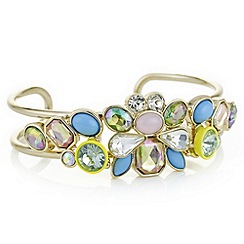 Butterfly by Matthew Williamson - Cluster stone multicolour statement bangle