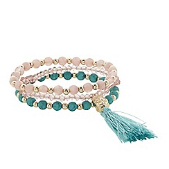 Butterfly by Matthew Williamson - Designer tassel and bead bracelet set