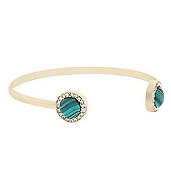 Butterfly by Matthew Williamson - Designer green crystal open bangle