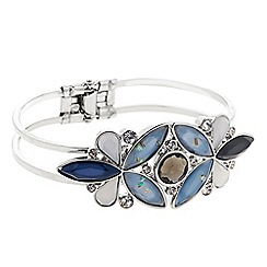 Butterfly by Matthew Williamson - Designer Blue glitter cluster stone bracelet