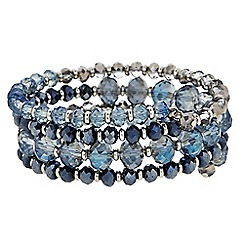 Butterfly by Matthew Williamson - Designer Blue beaded coil bracelet