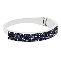 Butterfly by Matthew Williamson - Designer Blue crystal glitter bangle