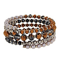 Butterfly by Matthew Williamson - Designer Bronze beaded coil bracelet