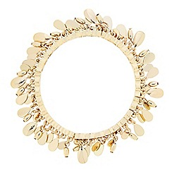 Butterfly by Matthew Williamson - Designer gold disc shaker stretch bangle