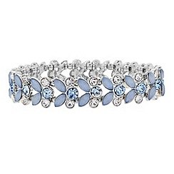 Butterfly by Matthew Williamson - Designer blue crystal leaf bracelet