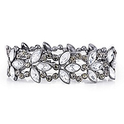 Butterfly by Matthew Williamson - Designer Silver mixed shape crystal bracelet