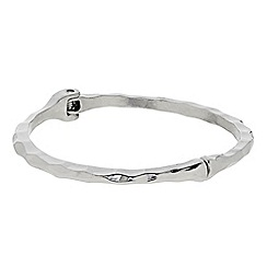 Butterfly by Matthew Williamson - Designer Silver textured hinged bangle