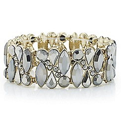 Butterfly by Matthew Williamson - Designer grey crystal stone cluster bracelet
