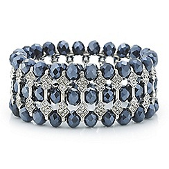 Butterfly by Matthew Williamson - Designer blue bead and crystal section bracelet