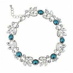Butterfly by Matthew Williamson - Designer teal pearl and crystal bracelet