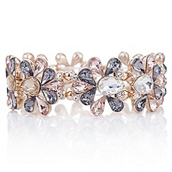 Butterfly by Matthew Williamson - Designer rose gold crystal flower bracelet