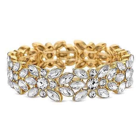 Butterfly by Matthew Williamson - Designer floral crystal bracelet