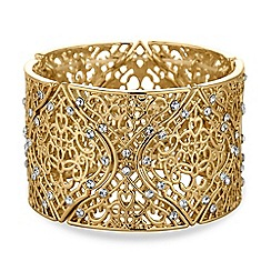 Butterfly by Matthew Williamson - Designer gold filigree bracelet
