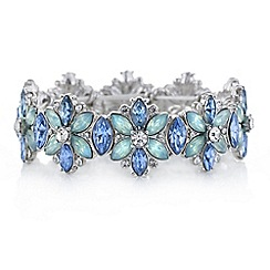 Butterfly by Matthew Williamson - Designer tonal blue floral bracelet
