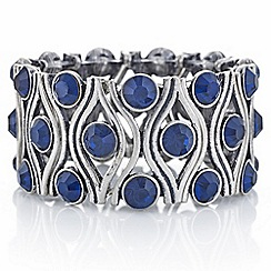Butterfly by Matthew Williamson - Designer blue crystal bracelet