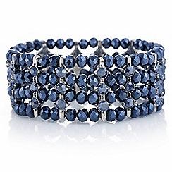 Butterfly by Matthew Williamson - Designer blue tonal bead bracelet