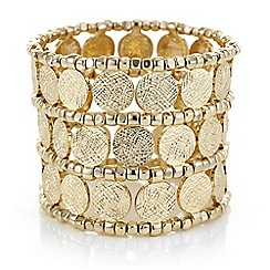 Butterfly by Matthew Williamson - Designer coin beaded cuff bracelet