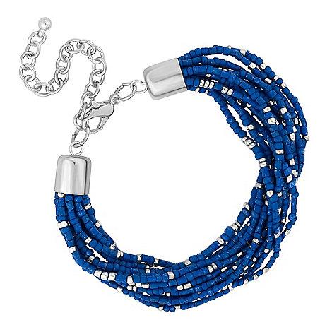 Butterfly by Matthew Williamson - Designer tonal blue beaded bracelet
