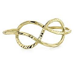 Butterfly by Matthew Williamson - Designer gold textured twist bangle