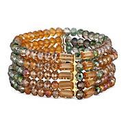 Designer multi crystal bracelet