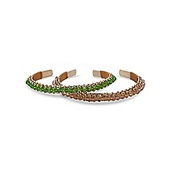 Butterfly by Matthew Williamson - Designer beaded bangle set