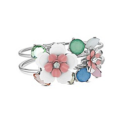 Butterfly by Matthew Williamson - Pink floral statement bracelet