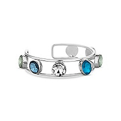 Butterfly by Matthew Williamson - Blue crystal open bangle