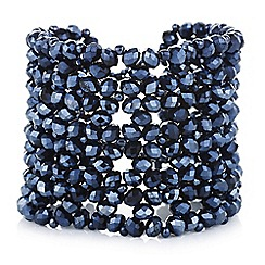 Butterfly by Matthew Williamson - Designer blue beaded bracelet