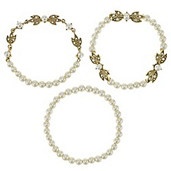 Butterfly by Matthew Williamson - Designer pearl and leaf bracelet set