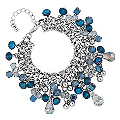 Butterfly by Matthew Williamson - Designer blue bead shaker bracelet