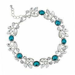 Butterfly by Matthew Williamson - Designer teal crystal cluster bracelet