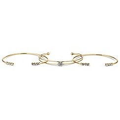 Butterfly by Matthew Williamson - Designer crystal delicate bracelet set