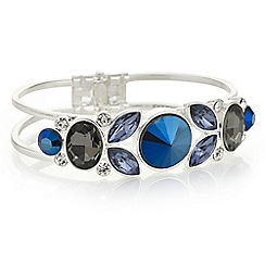Butterfly by Matthew Williamson - Designer tonal blue crystal bracelet