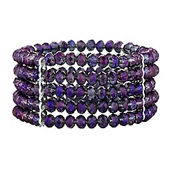 Butterfly by Matthew Williamson - Designer tonal bead stretch bracelet